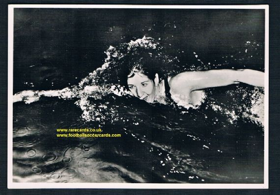 1957 DDR East German card 1956 Olympics gold medal world record swimmer Dawn Fraser Australia